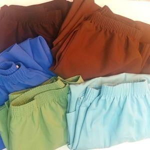 Set of 5 MP BONWORTH Elastic Waist Pants & Capris